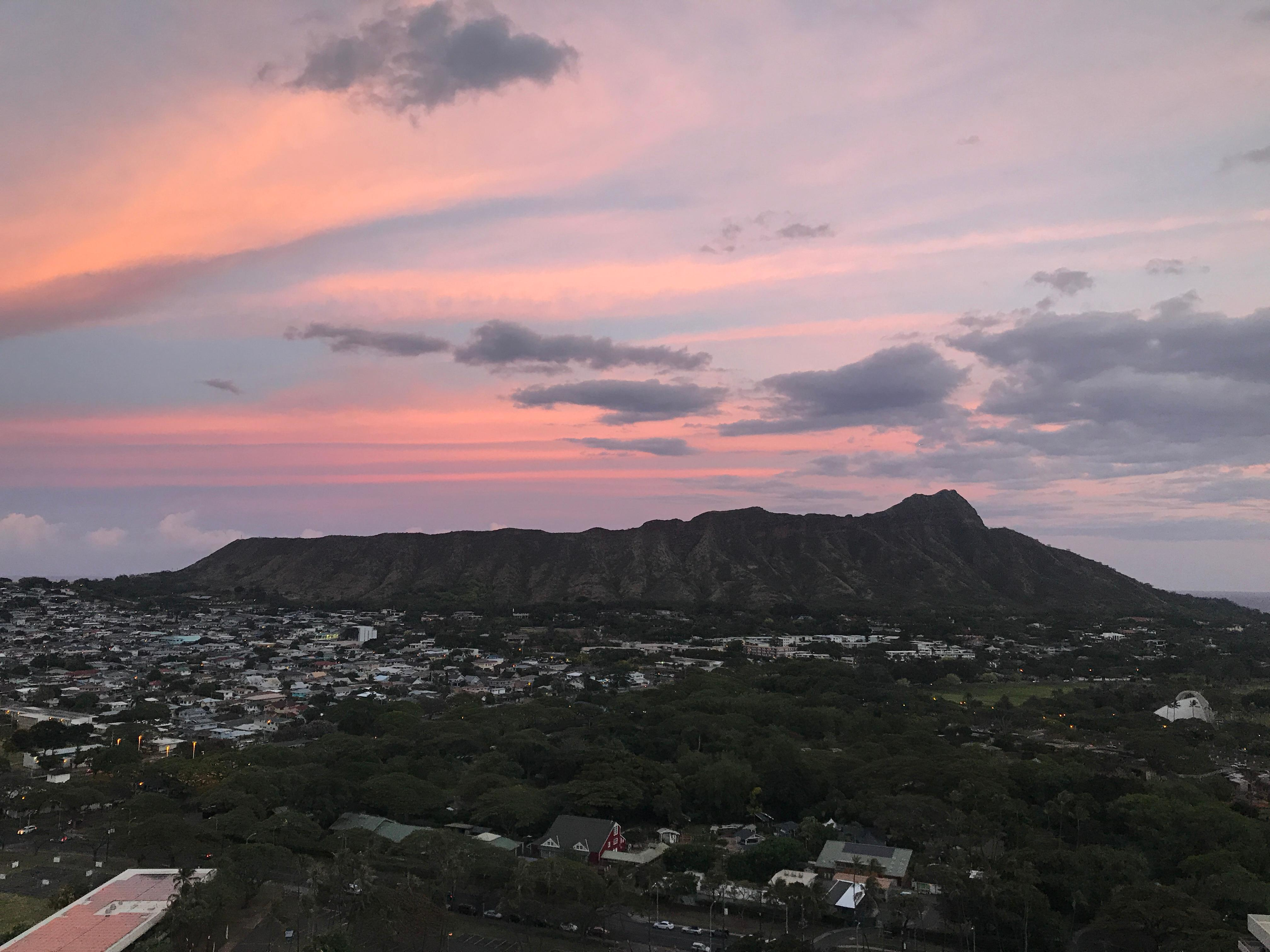 View from our balcony of Diamond Head