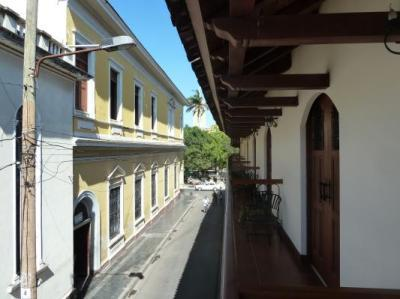 View from our balcony, looking towards the Parque Colon