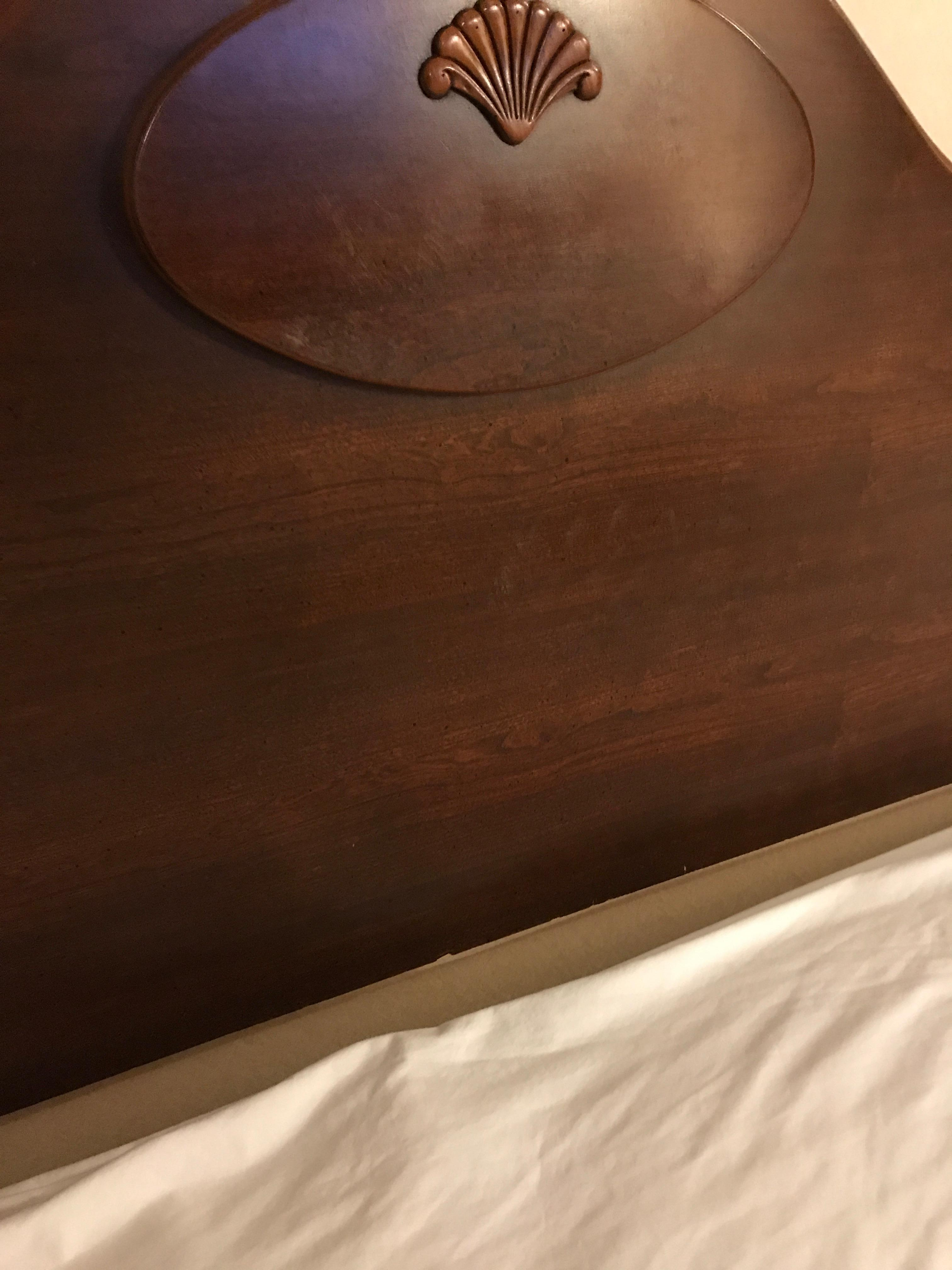 Hand prints were on the head board