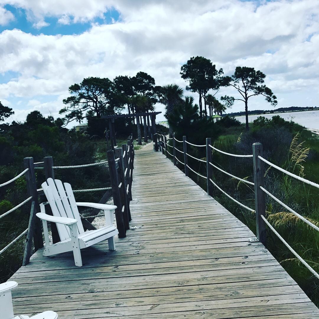 Board walk to private beach