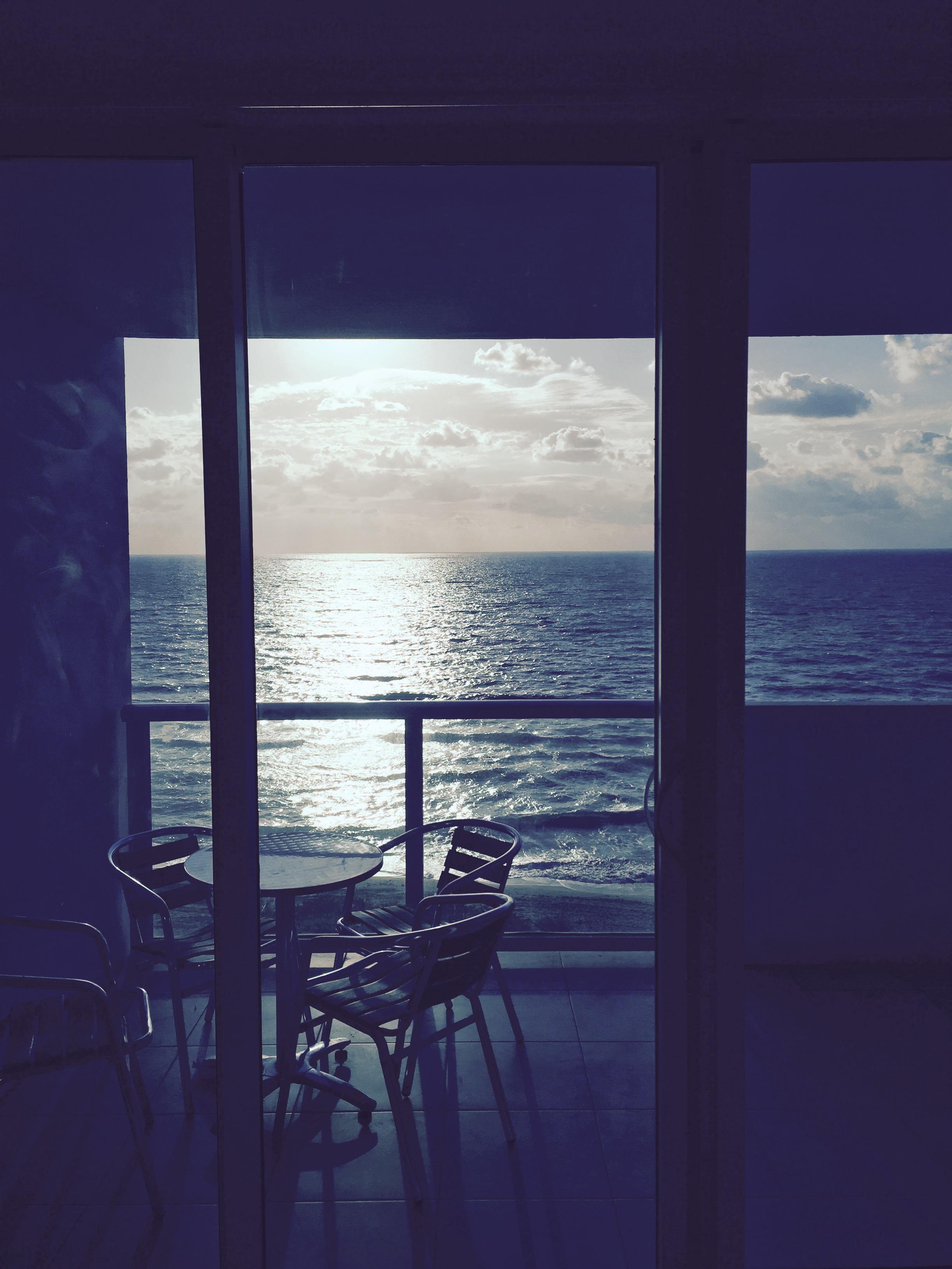 8th floor balcony with ocean/beach view