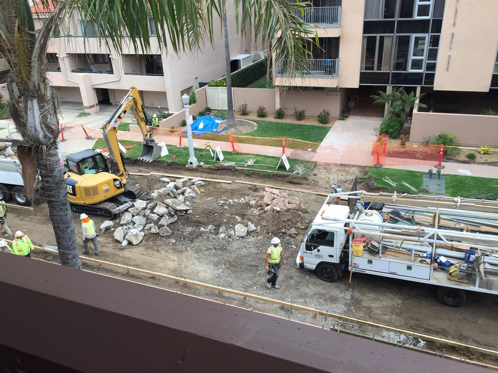 Construction starts at 7am, right outside your door.
