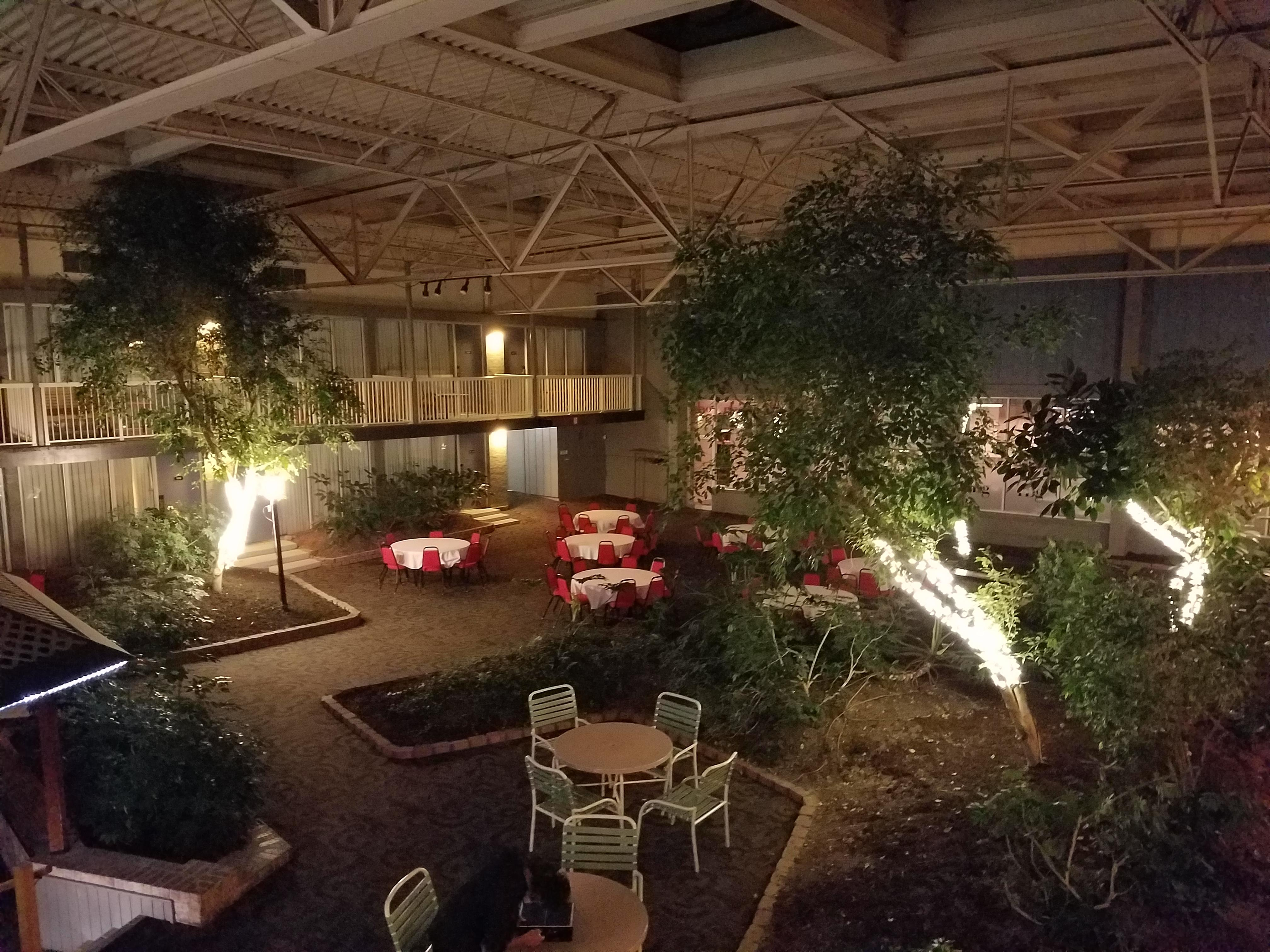 Pool area from balcony room
