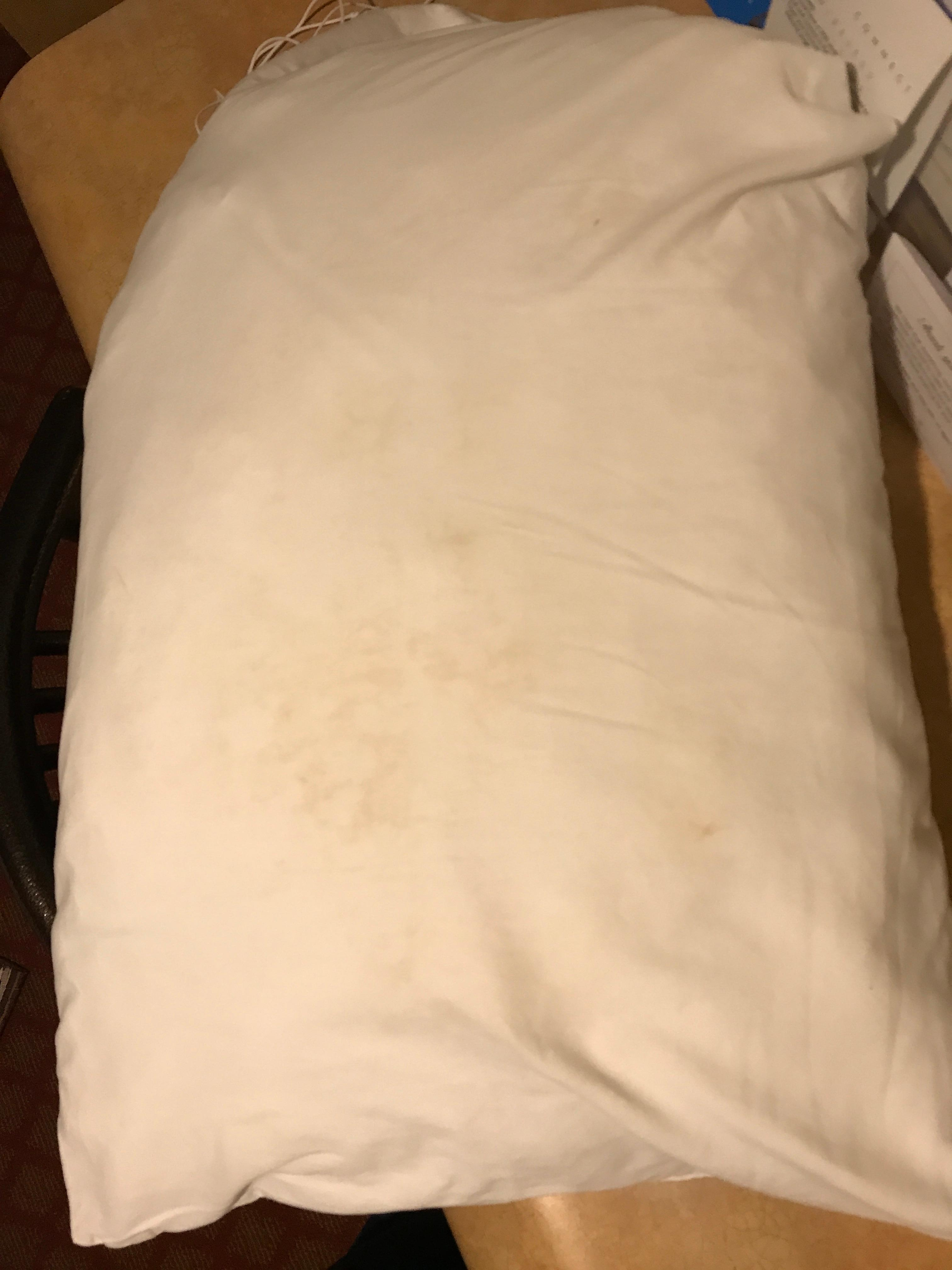 Pillow, after I asked to change sheets