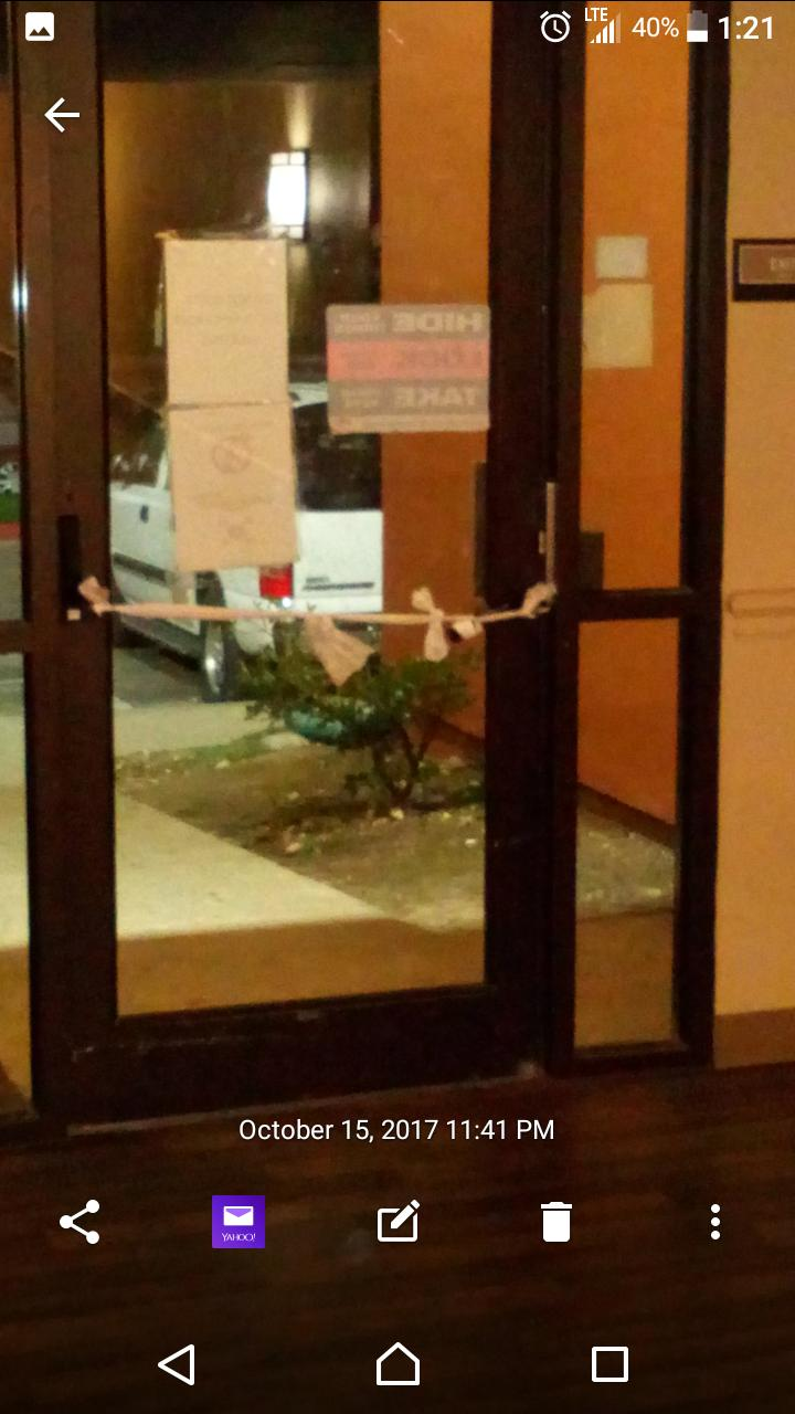 Security access door broken entire time