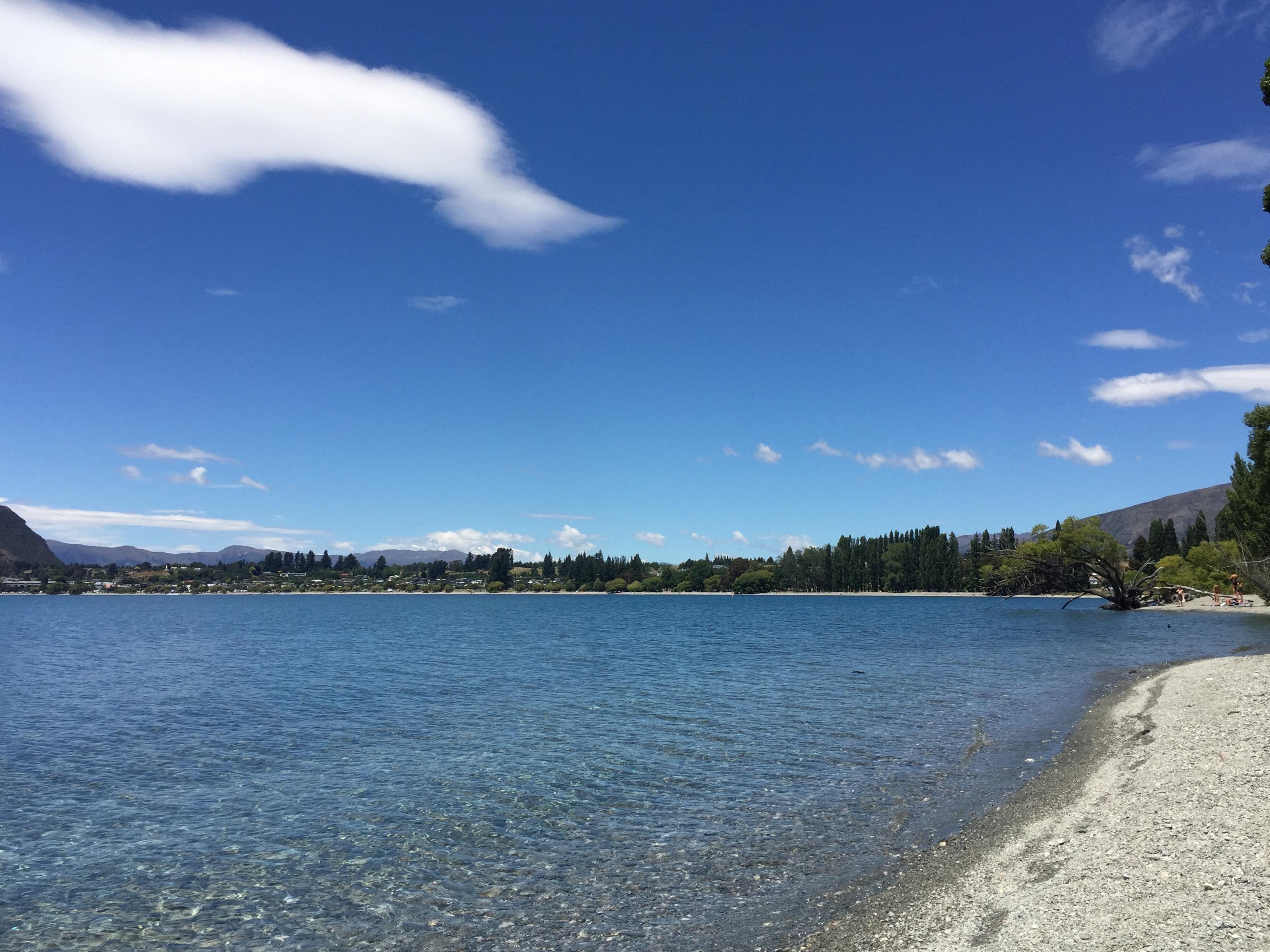 Lake front at hotel