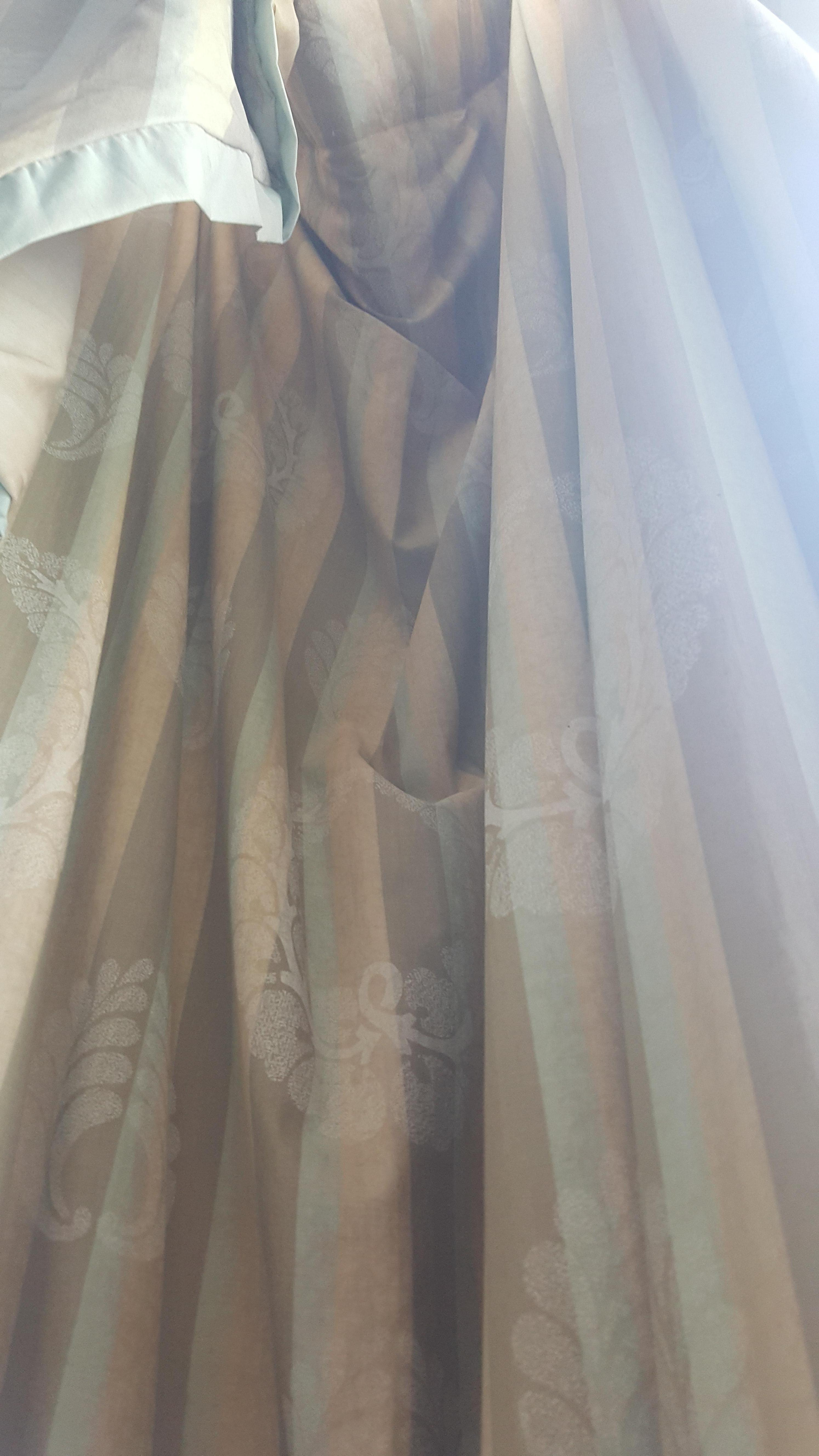 Curtains not hung properly