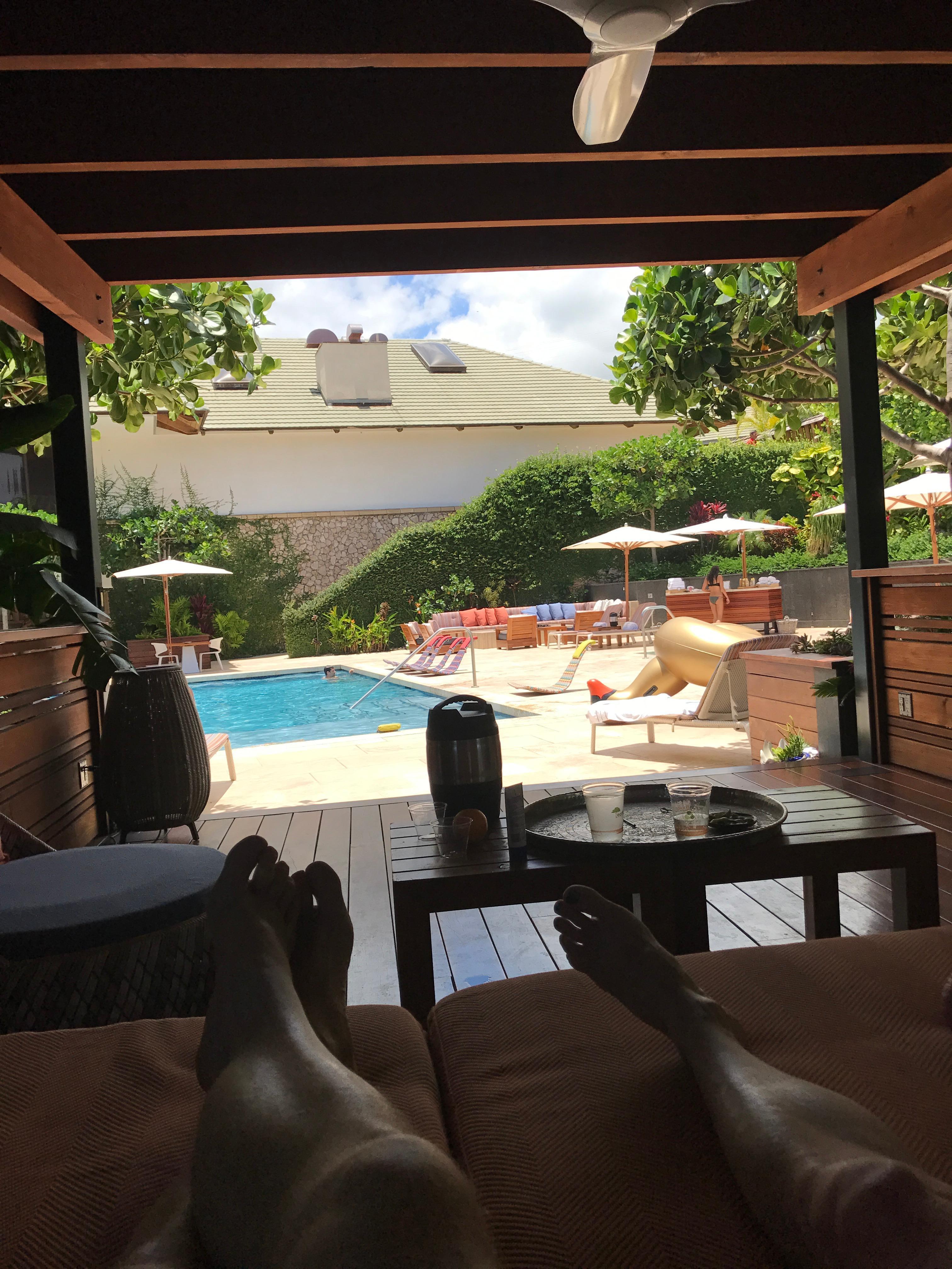 Cabana view.