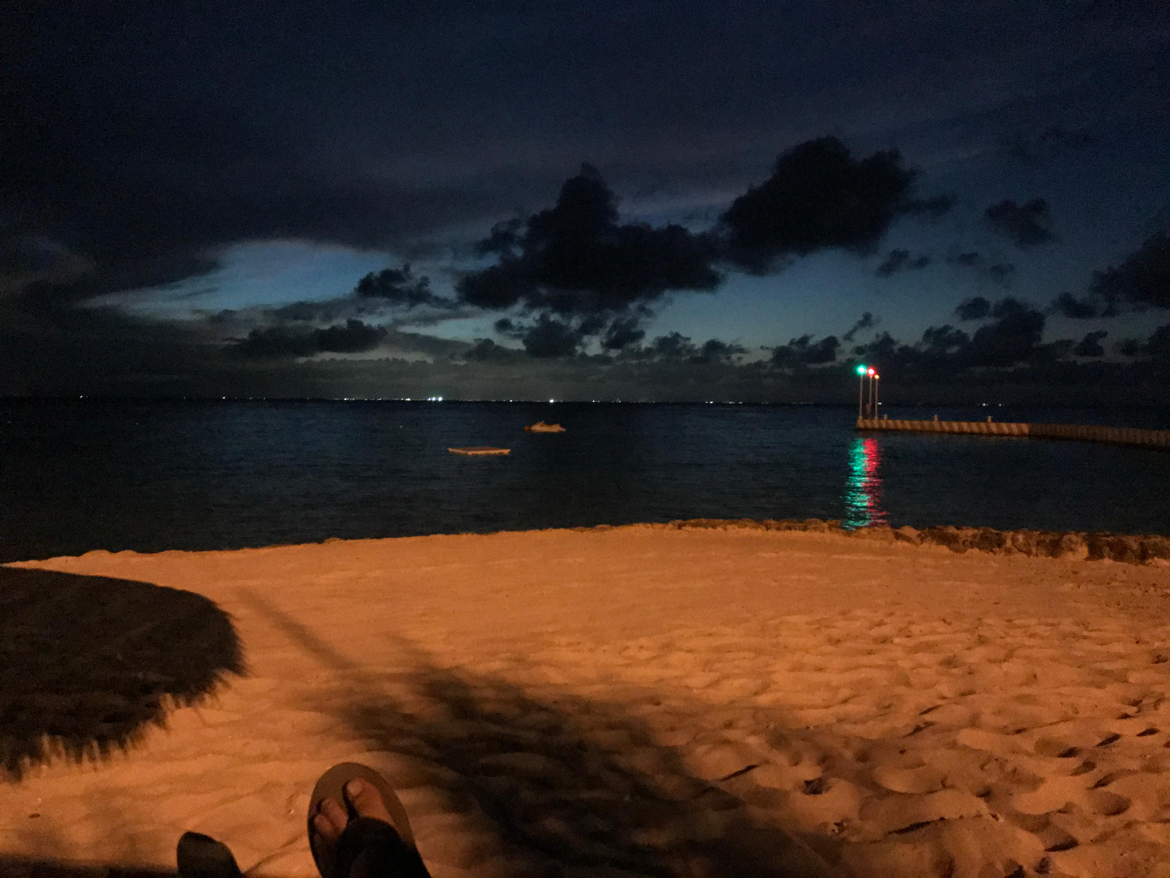 Night view from the beach