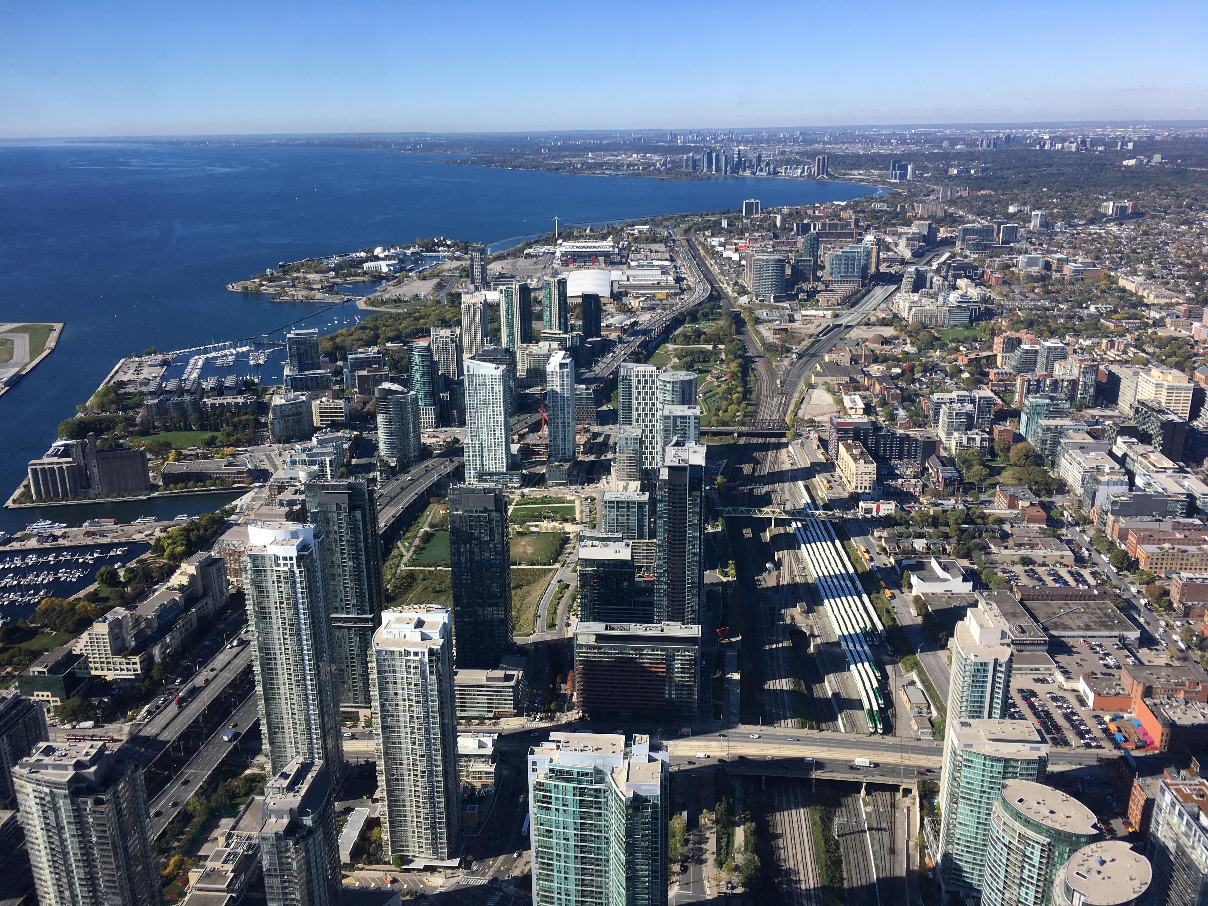 View of downtown Toronto from CN tower