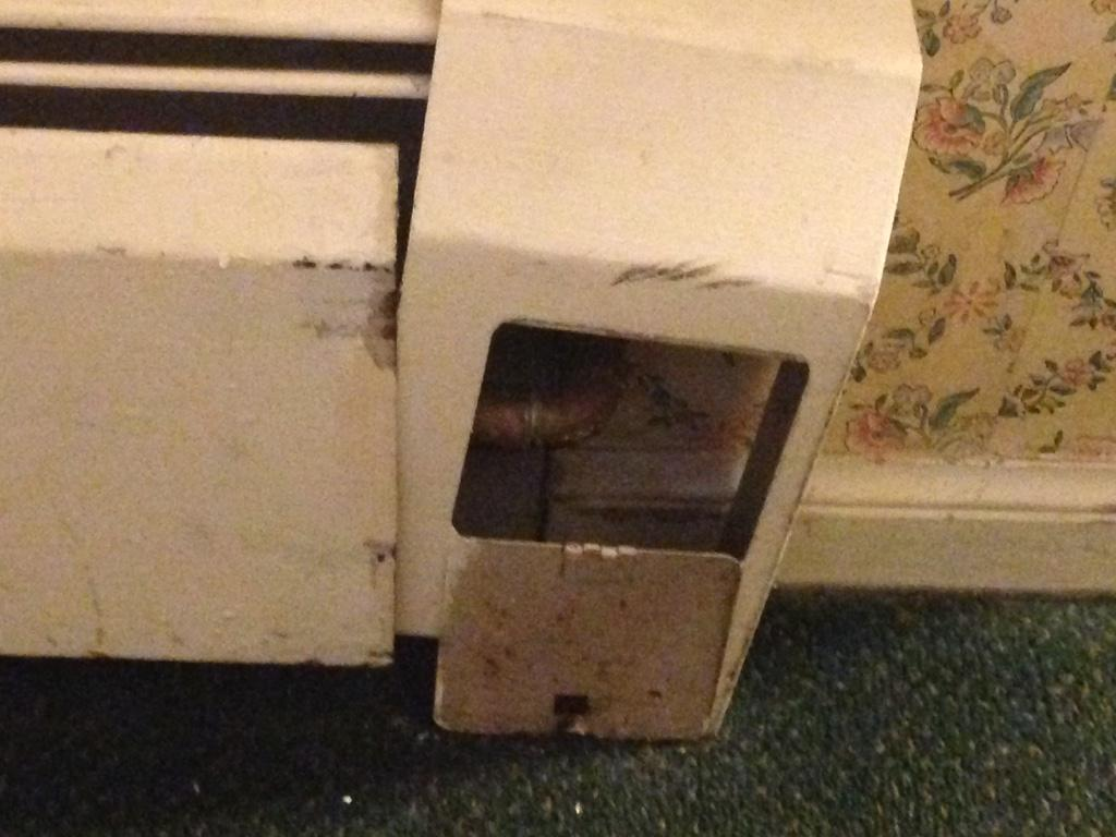 Baseboard heating (poor condition)