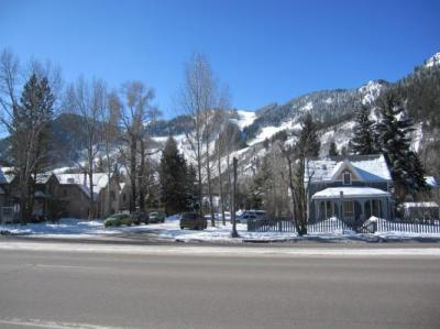 View of Aspen Mountain just down the street from the Hotel Jerome
