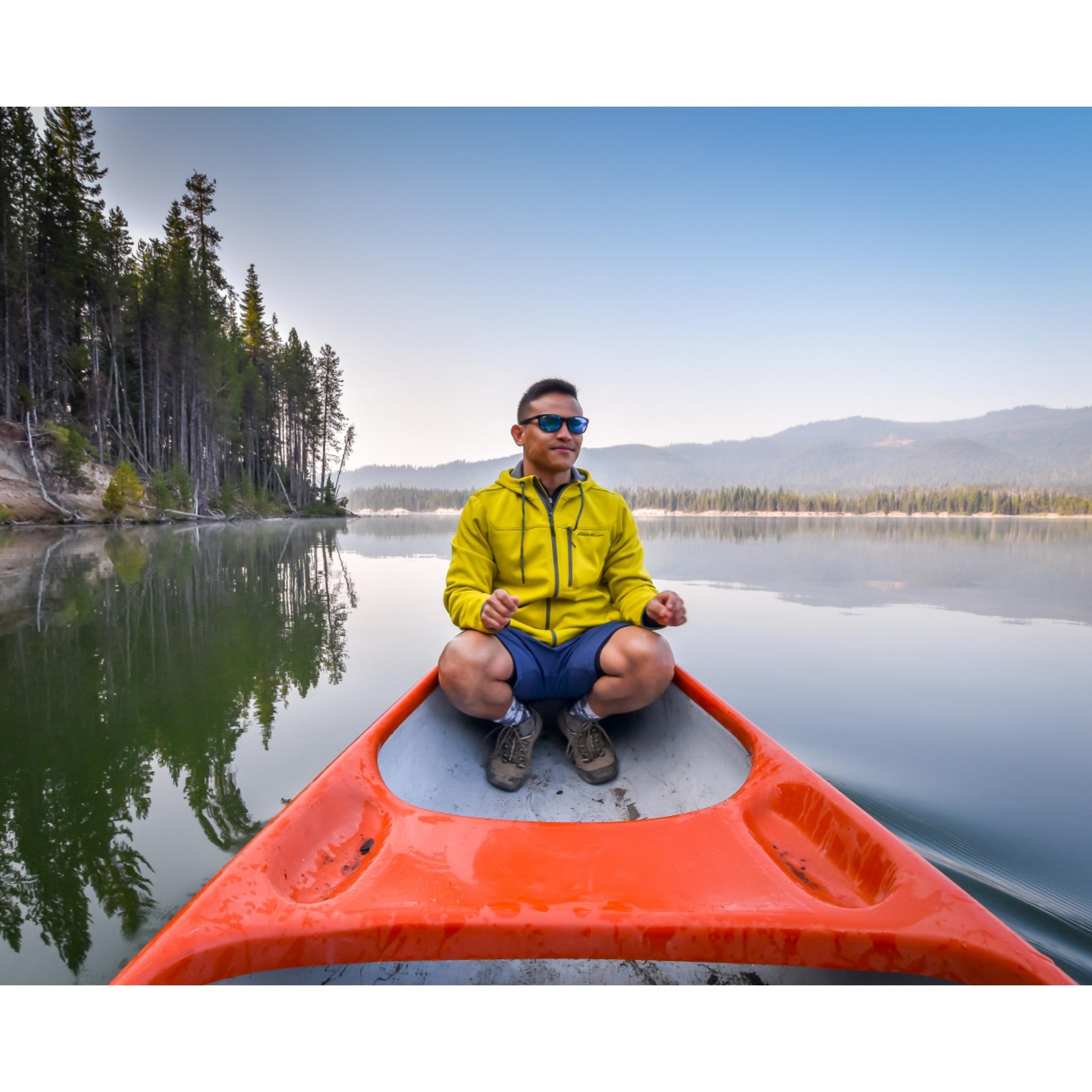 we had fun on the canoe