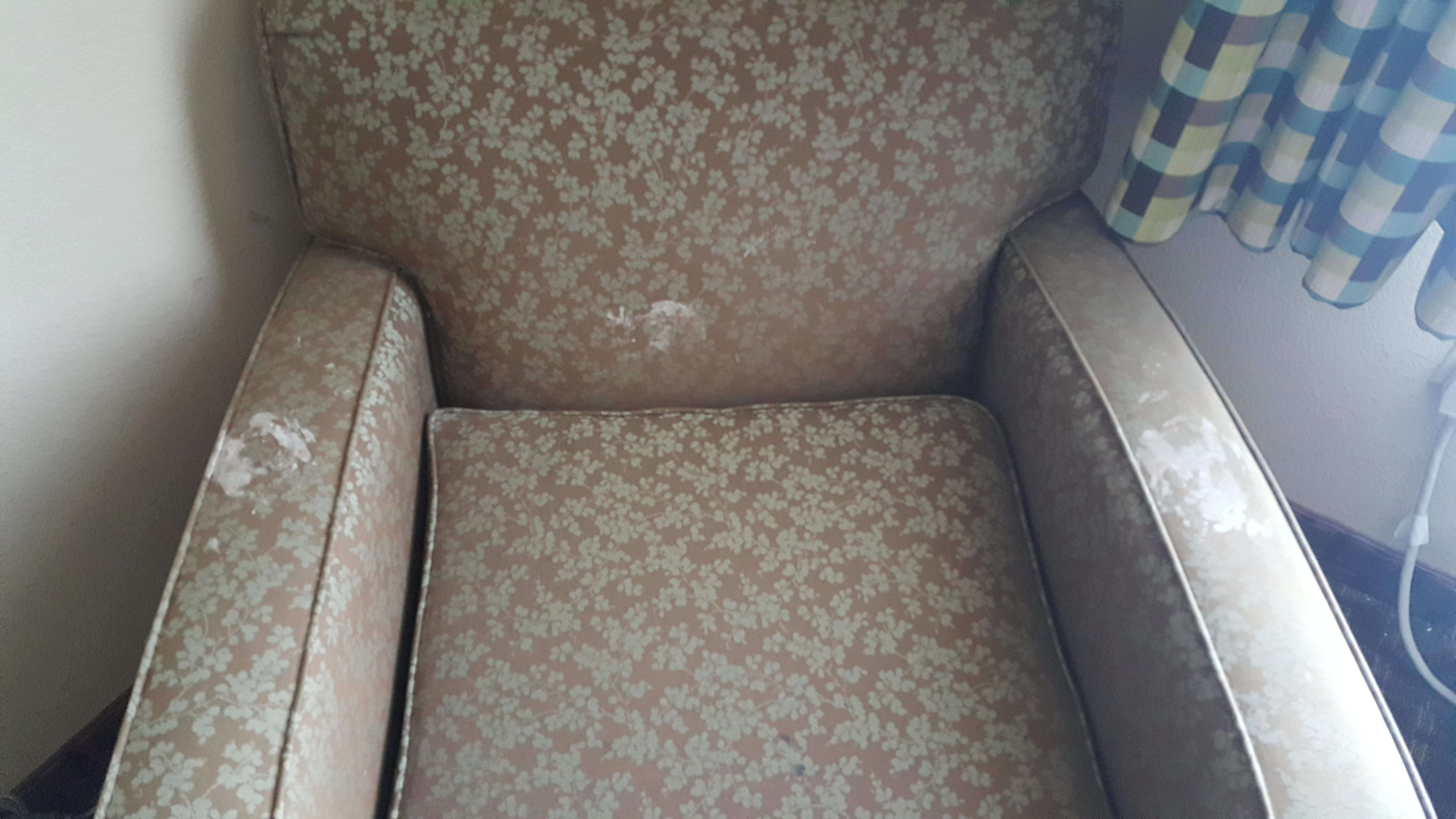 Stained arm chair