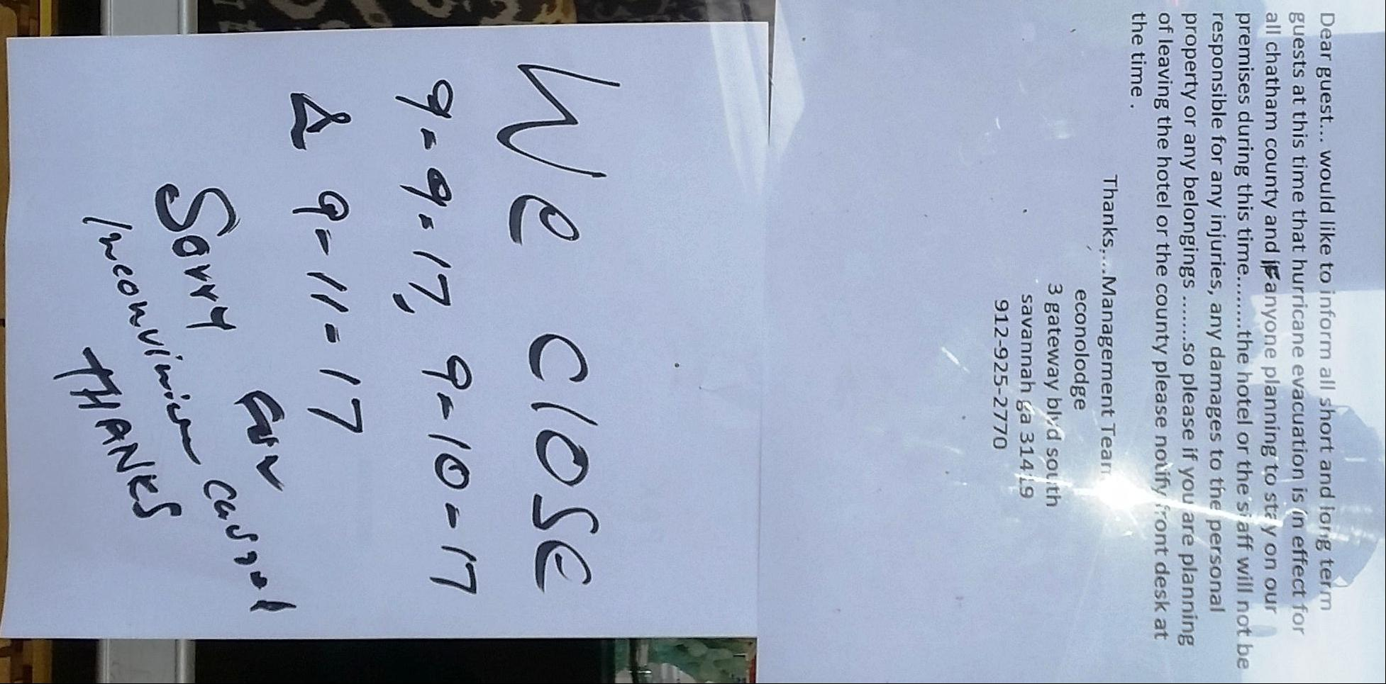 Hotel Notice