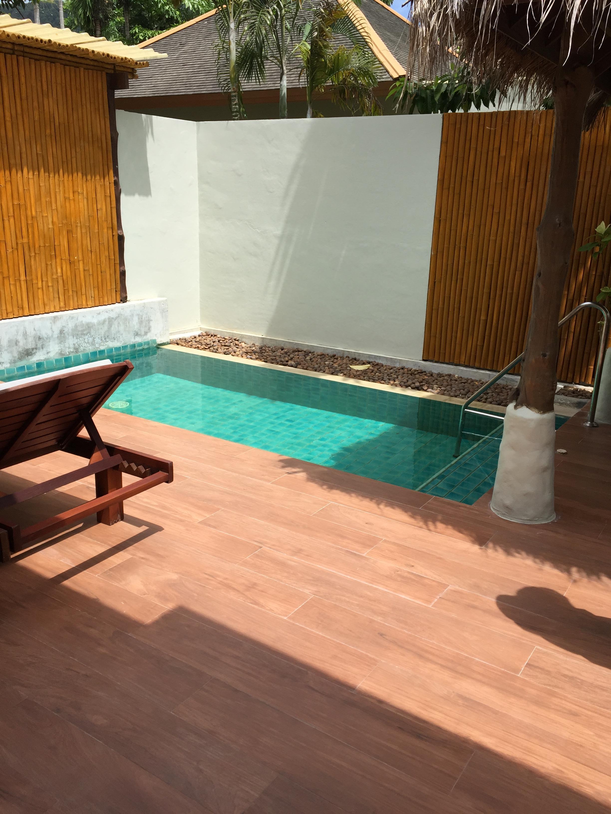 Private pool very private.