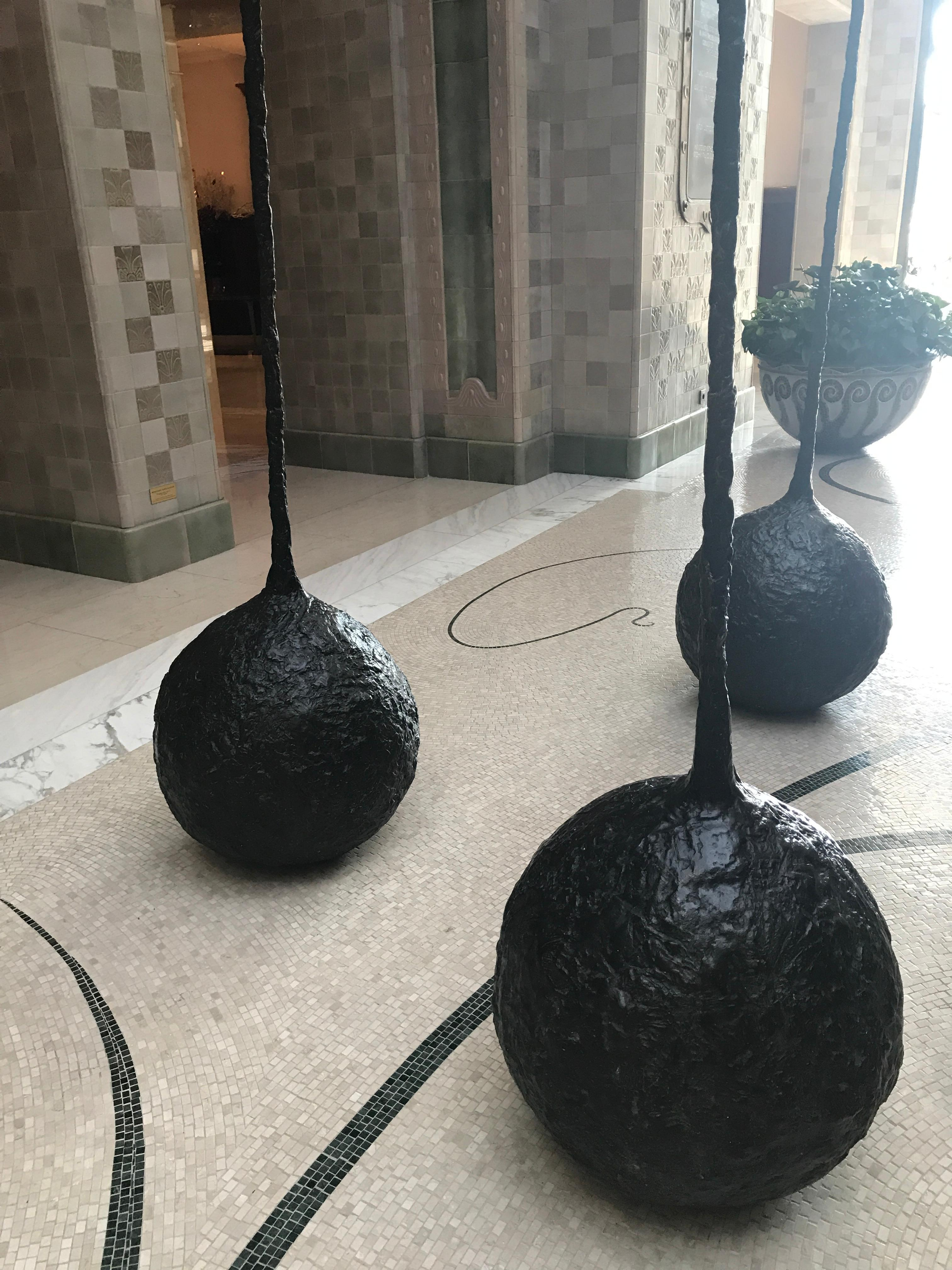 Cool sculptures in the lobby.