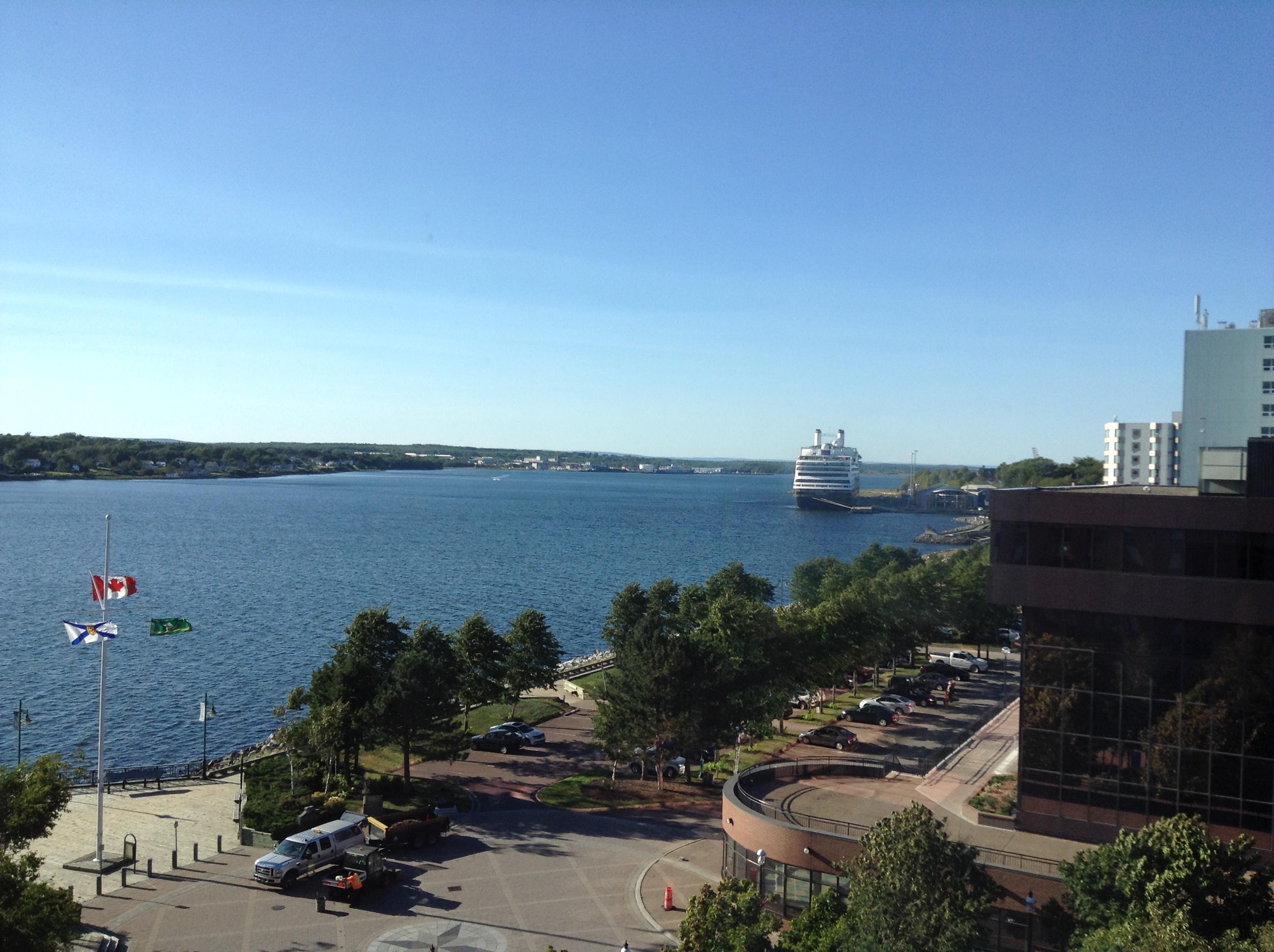 Sydney harbor from hotel
