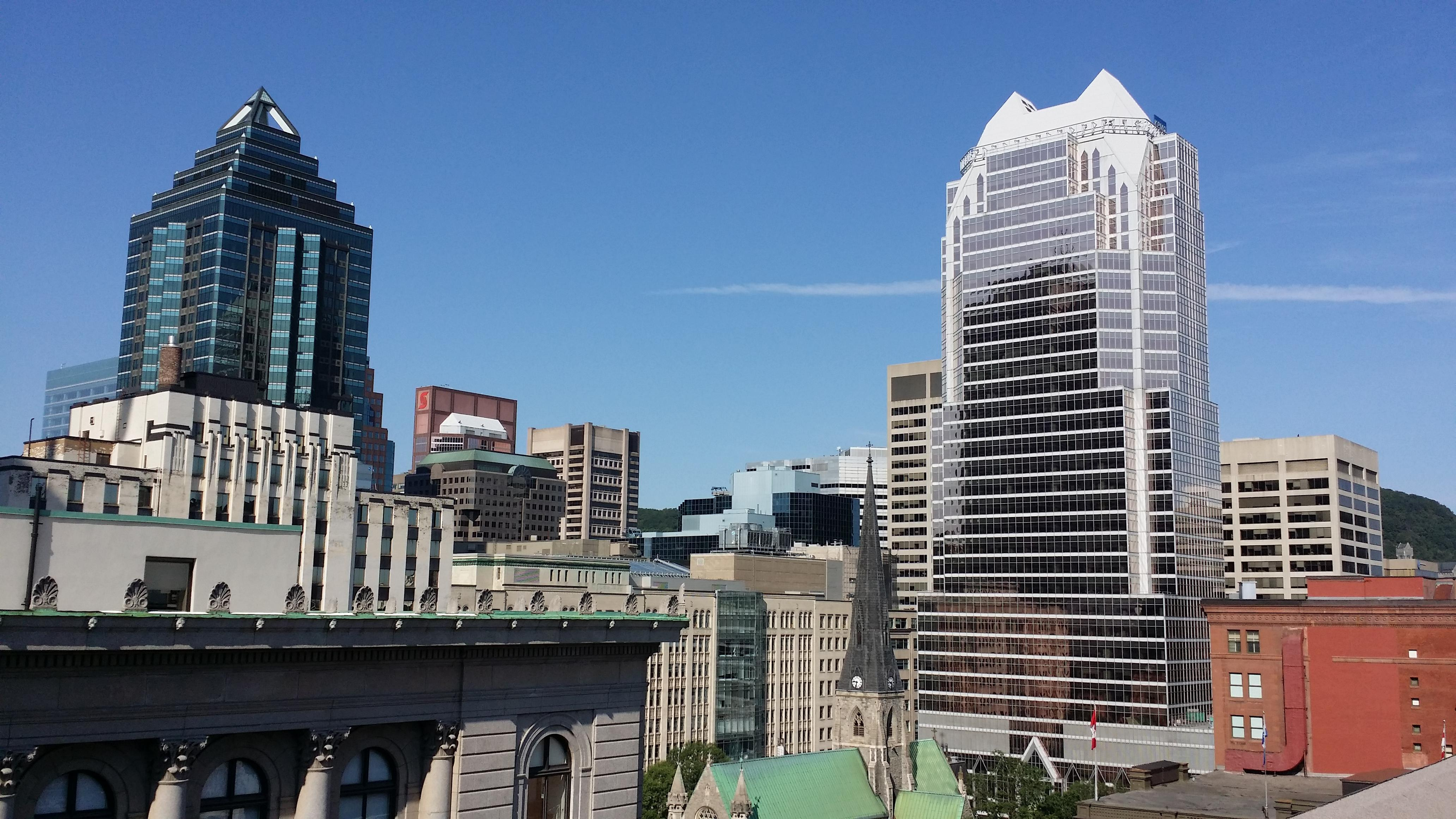 A view from the roof.