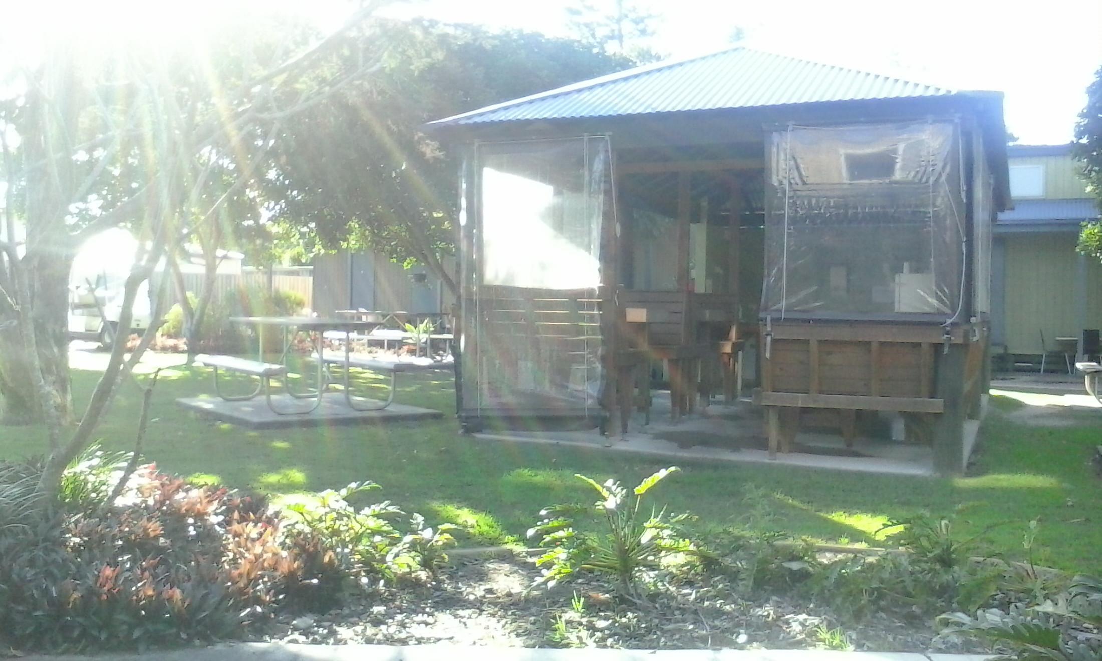Cabins at lodge