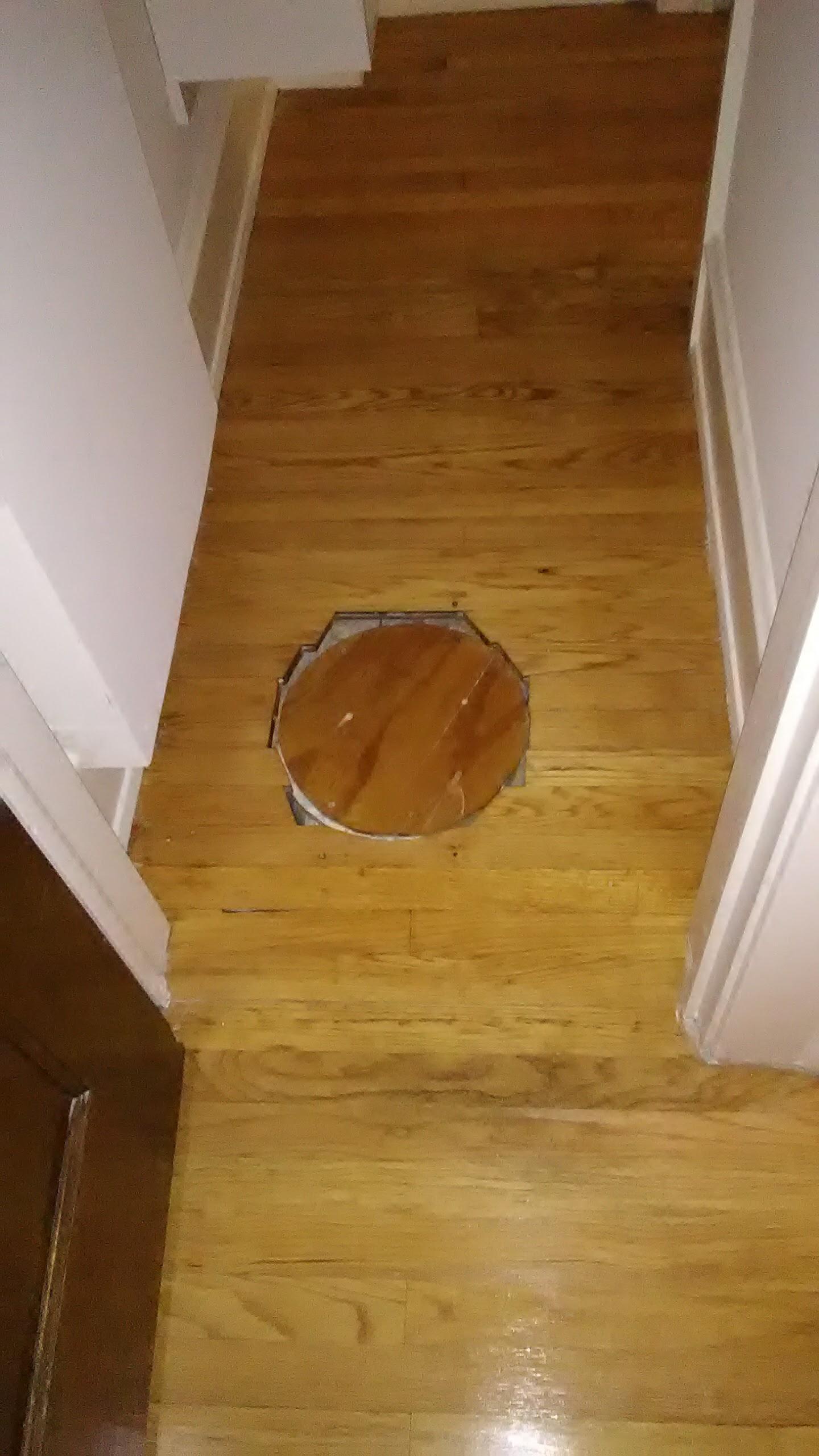 Hole in floor