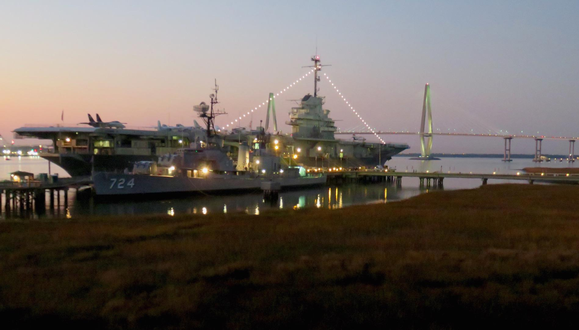 The Yorktown at night