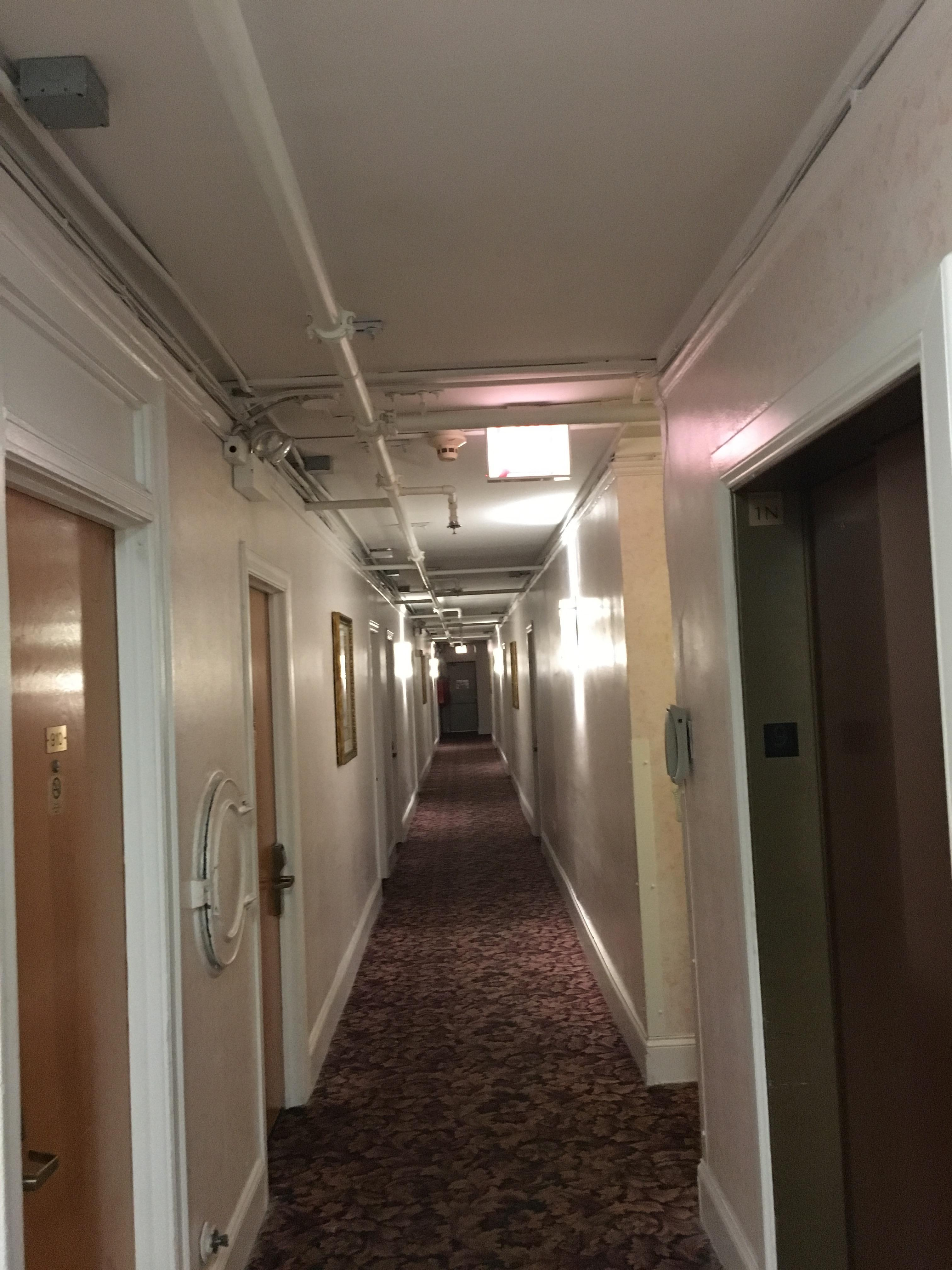 Hallways. Appears to be an old apartment