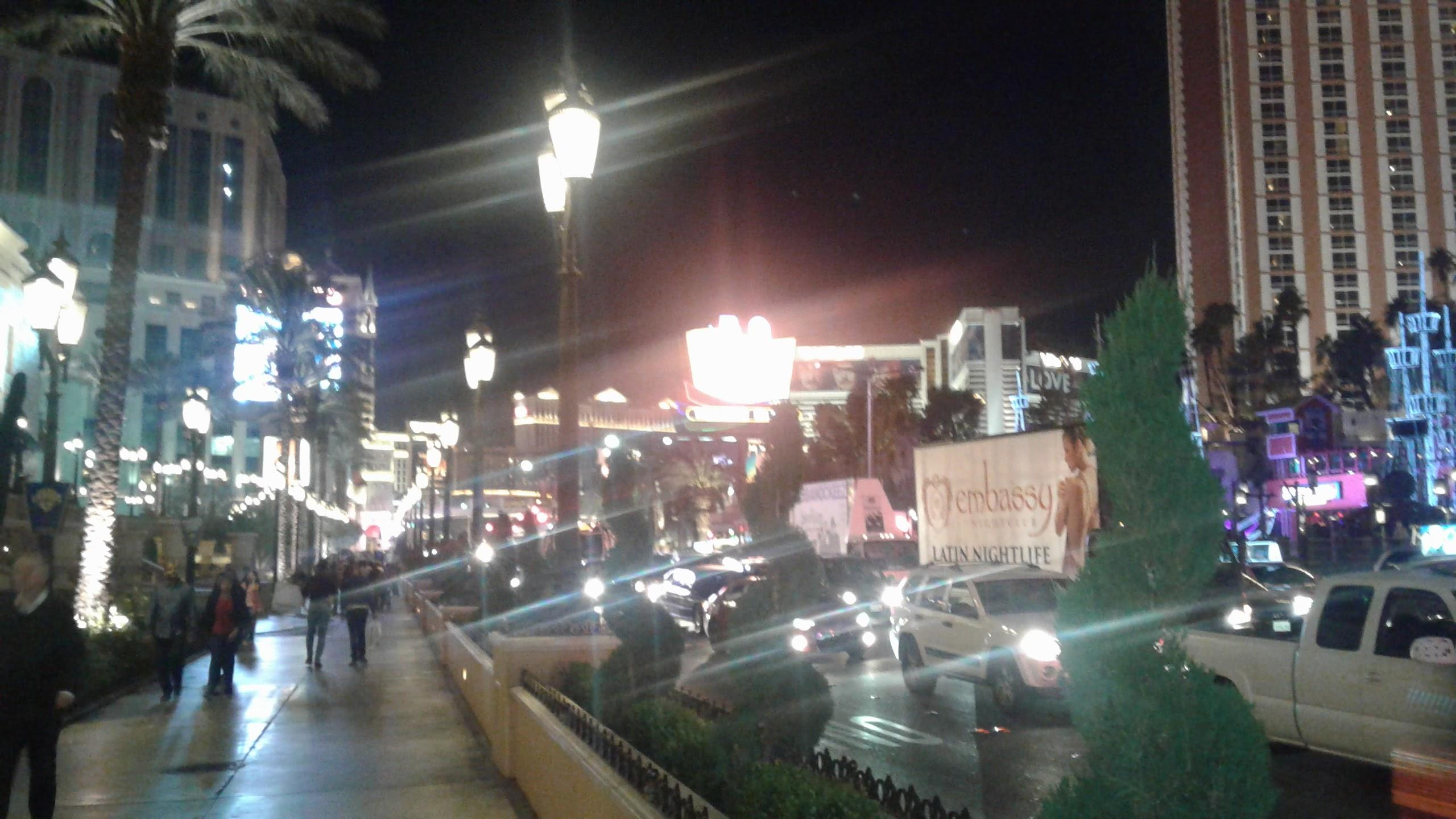 Outside Palazzo on the strip