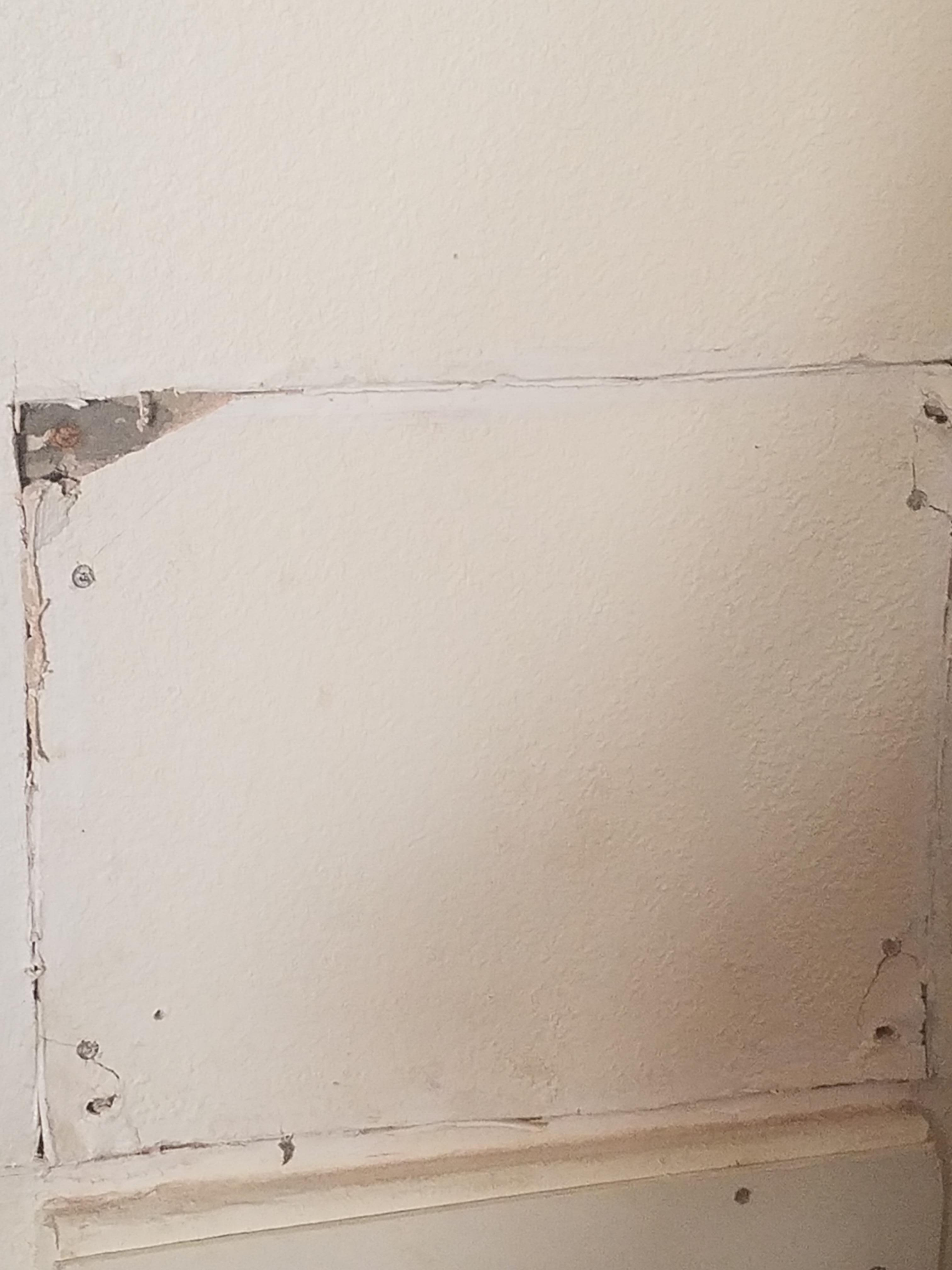 Wall next to bed