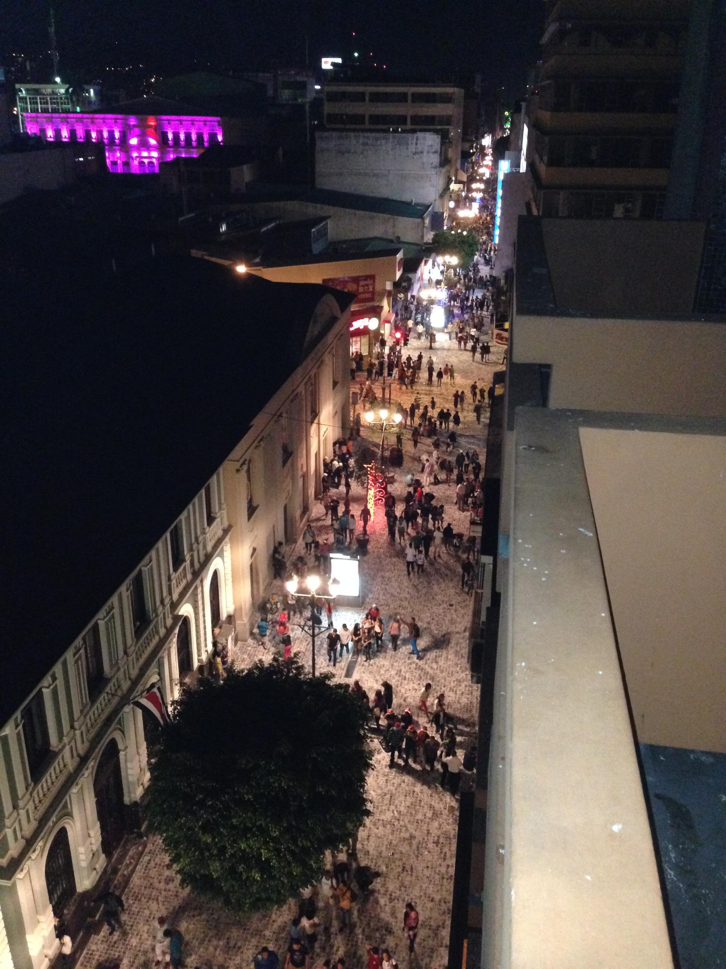 View of Central Avenue from Balcony