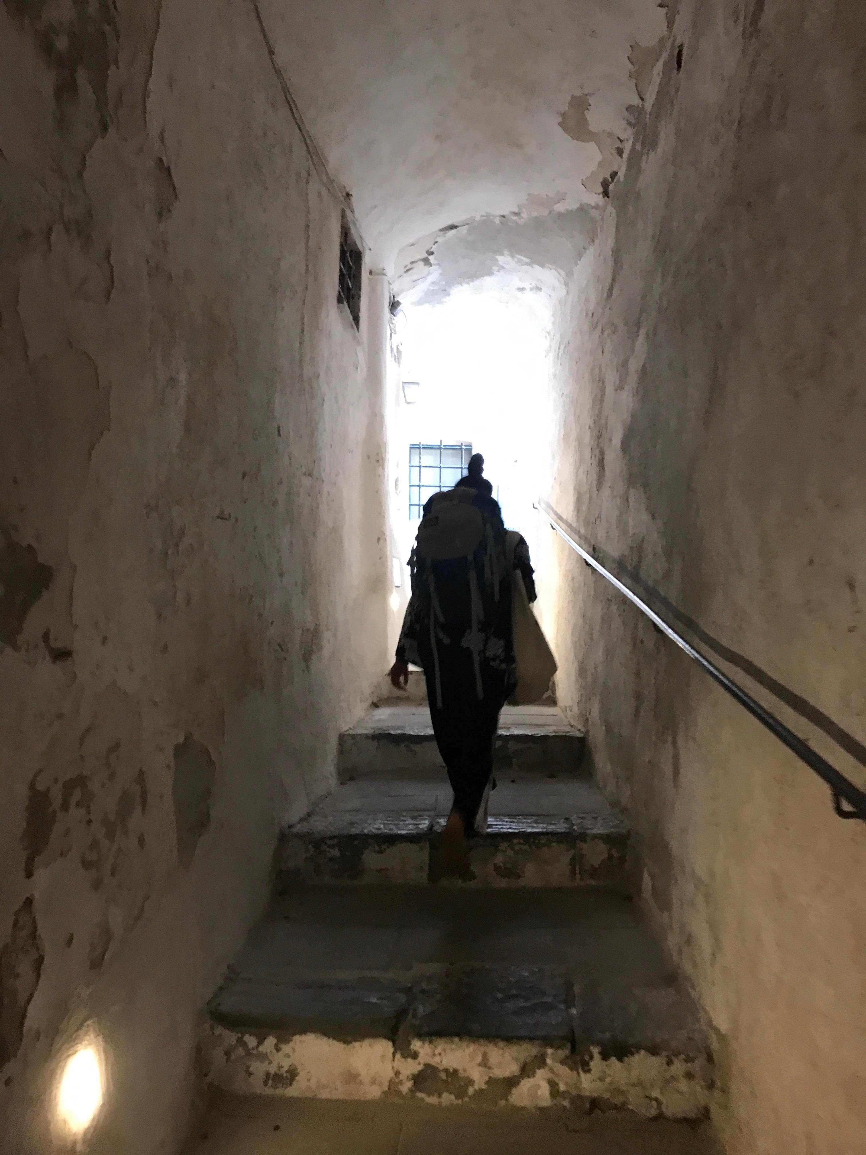 Walkway up to hotel