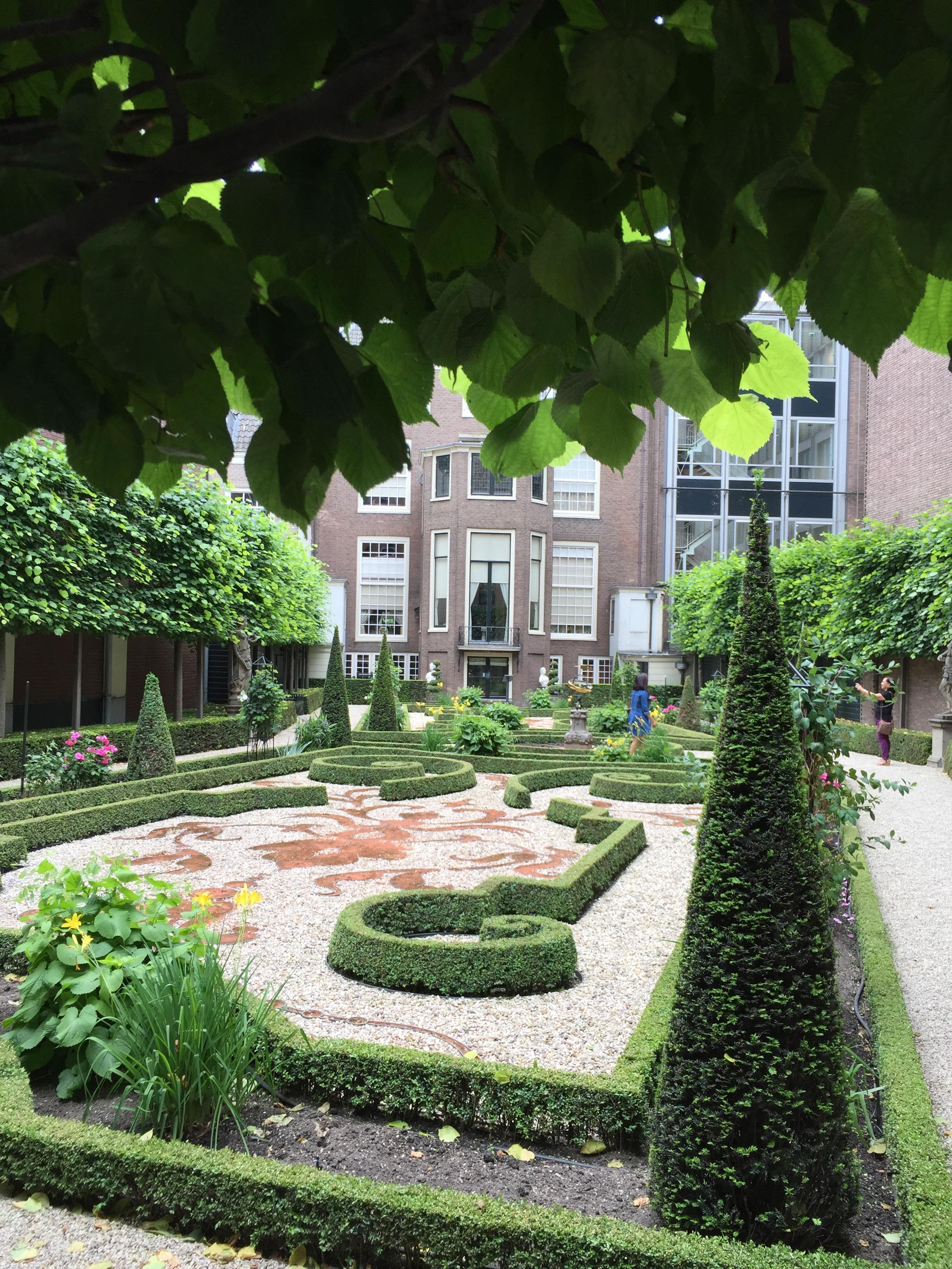 A courtyard in Amsterdam