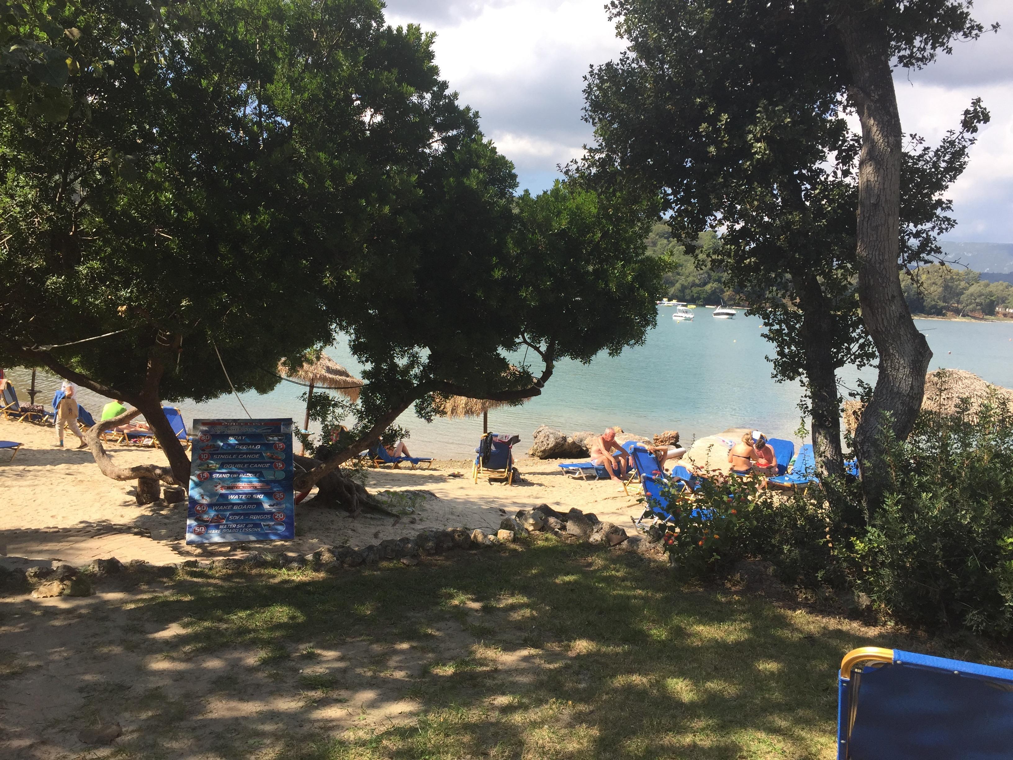 Auch am Strand Schattenbereiche