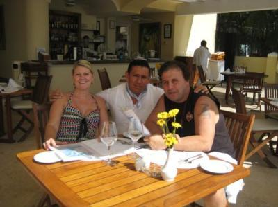 Lunch at Private Beach Club Restaurant