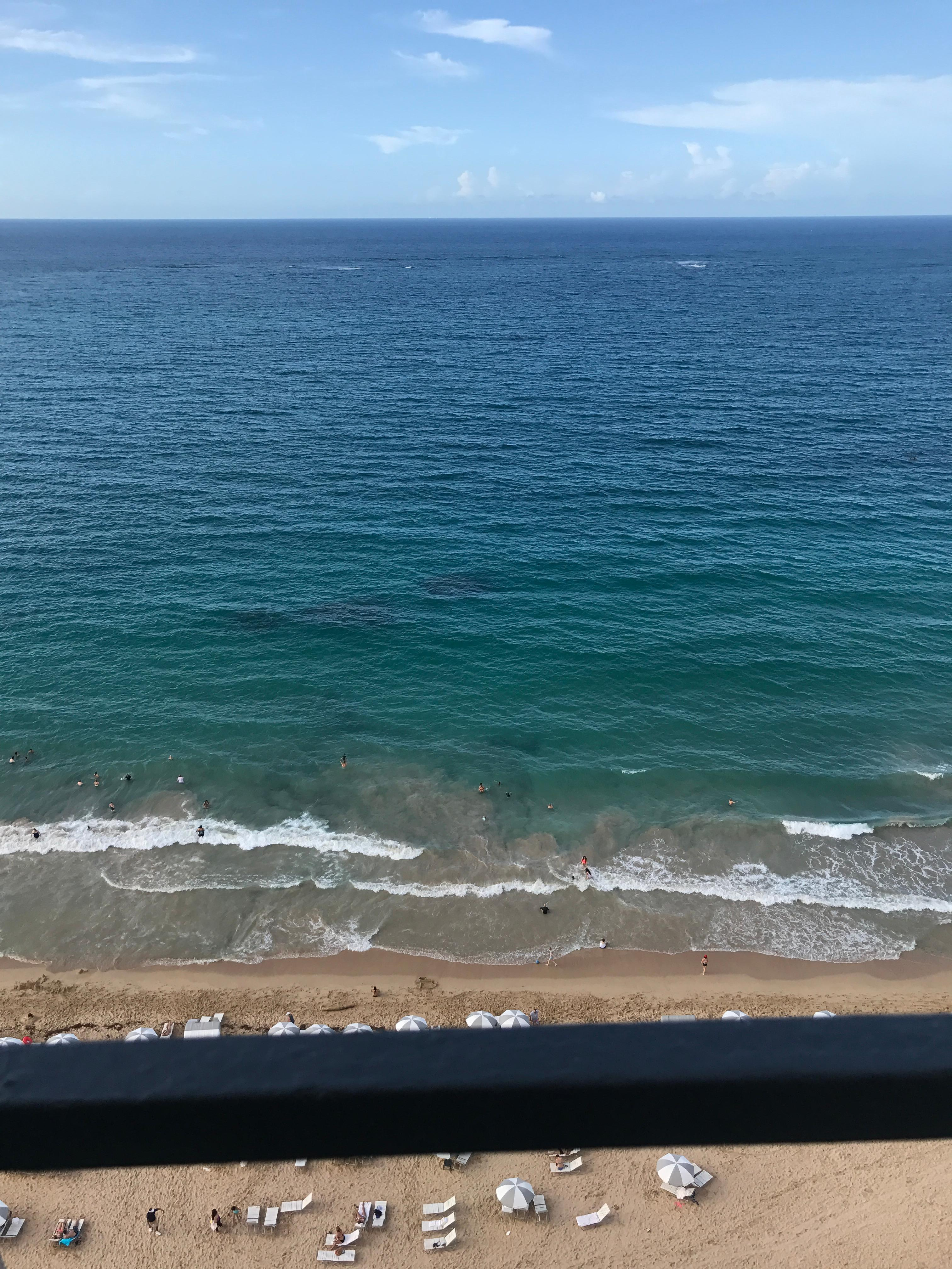 From our ocean front balcony